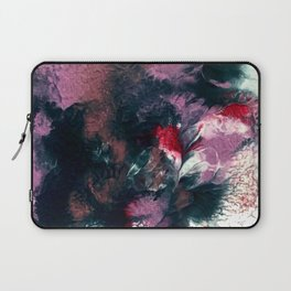 Endless Grace: an abstract acrylic piece in purples and blues by Alyssa Hamilton Art Laptop Sleeve