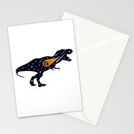 Dinosaur and meteorite strike #society6 #decor #buyart #artprint Stationery Cards