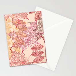 beautiful leave Stationery Cards
