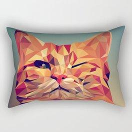 Winking Cat Vector Illustration Rectangular Pillow