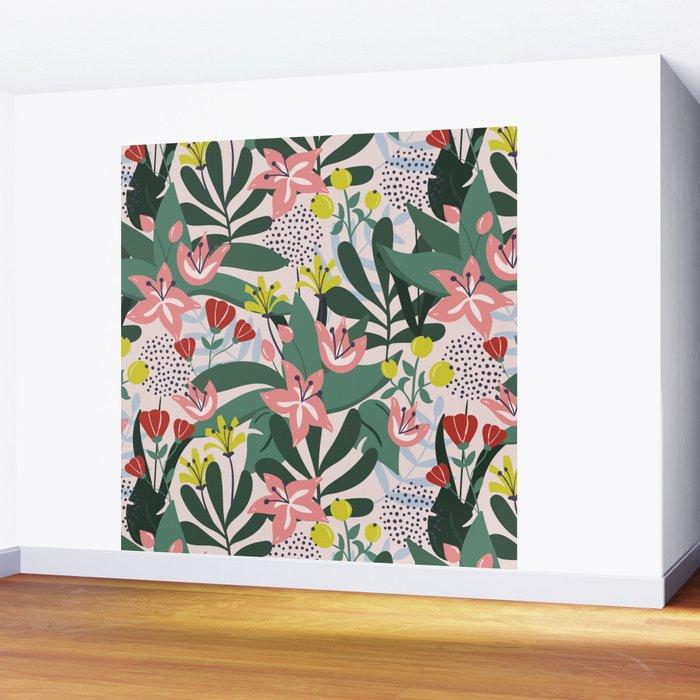Lush Florals Wall Mural
