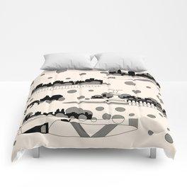 central park snow Comforters