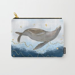 Flying Seal - Rising Waters Surreal Climate Change  Carry-All Pouch