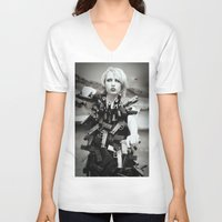guns V-neck T-shirts featuring Guns by Pedro E Bauza