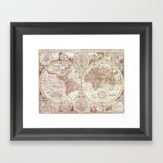 An Accurate Map Framed Art Print