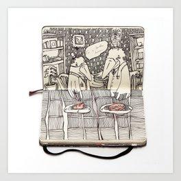 The Last Supper (Raven) Art Print