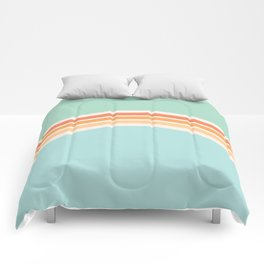 one day – mint, blue and peach Comforters