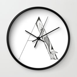 Mermaid Alphabet Series - A Wall Clock