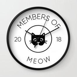 Members Of Meow Wall Clock