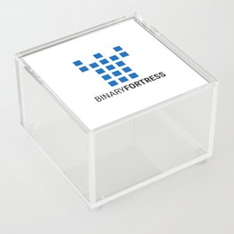 Binary Fortress Software (blue logo) Acrylic Box