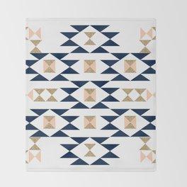 Jacs - Modern pattern design in aztec themed pattern navajo print textile cute trendy girl Throw Blanket