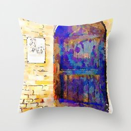 Brisighella: door Throw Pillow