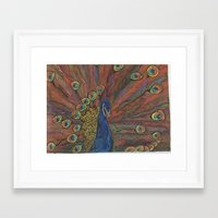 psychadelic Framed Art Prints featuring Psychadelic Peacock  by wyattxavier
