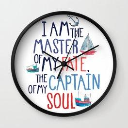 Nautical Typography Wall Clock