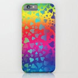 Hearts Rainbow iPhone Case