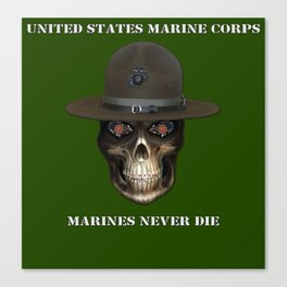 Marines never die. Canvas Print