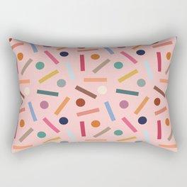 Postmodern Sticks + Stones in Pastel Pink Rectangular Pillow