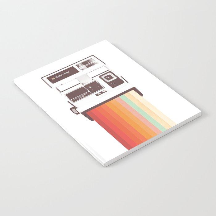 Instant Camera Rainbow Notebook
