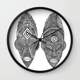 """The Sovereign  """"Malia & Khari"""" Wall Clock"""