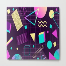 80's shapes Metal Print
