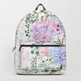 vintage hydrangea arrangement watercolor 2021  Backpack