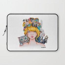 Alice in Wonderland Rendition Cartoonised Drawing Laptop Sleeve