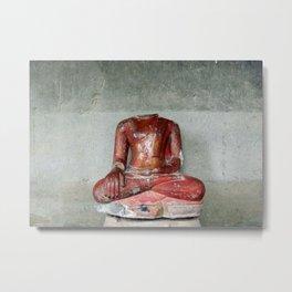 headless Buddha Metal Print