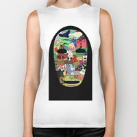 spirited away Biker Tanks featuring No Face by Ilse S