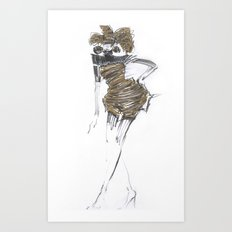 Fashion sketches in pencil Art Print