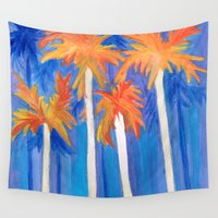 florida Wall Tapestries featuring Florida Autumn by Rosie Brown