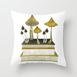floral reading v Throw Pillow