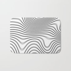 Organic Abstract 02 WHITE Bath Mat