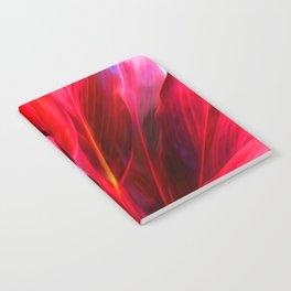 Red Ti Leaf Notebook