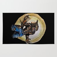 werewolf Area & Throw Rugs featuring Werewolf ! by Patricia Pedroso