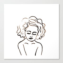 a girl in calm Canvas Print