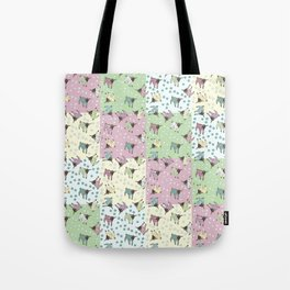 Pajama'd Baby Goats - Patchwork Tote Bag