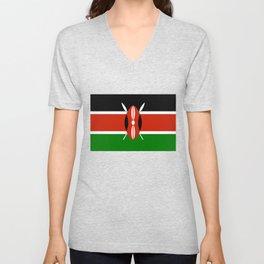 Kenyan national flag - Authentic version Unisex V-Neck