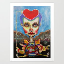 hearthead Art Print