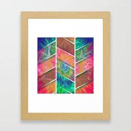 370 10 Colorful Bohemian Tie-Dye Chevron Framed Art Print