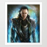 loki Art Prints featuring Loki  by EternaLegend