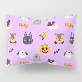 cute animal crossing halloween pattern Pillow Sham