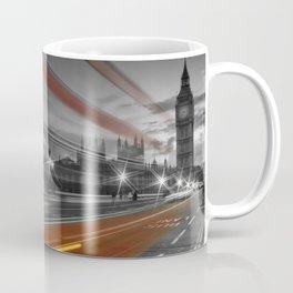 LONDON Westminster Bridge & Red Bus Coffee Mug