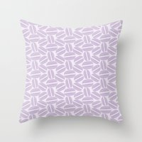 macaroon Throw Pillows featuring French Pattern - Violet Macaron - Purple Macaroon by French Macaron Art Print and Decor Store