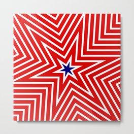 Geometric Star America Flag Inspired Metal Print