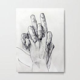 Hand Sketch 3 Metal Print
