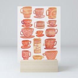 Pink Teacups and Mugs Mini Art Print