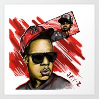 jay z Art Prints featuring Jay Z by C.Love Designs