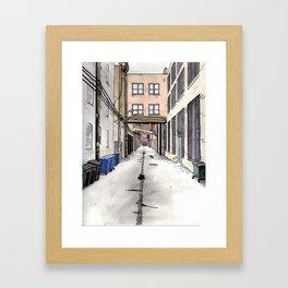 Alley in Ravenswood, Chicago Framed Art Print