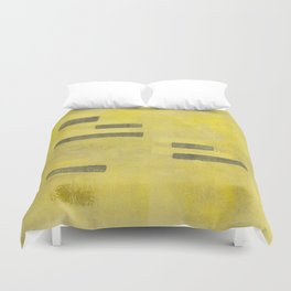 Stasis Gray & Gold 3 Duvet Cover