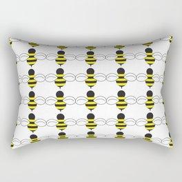 Bee Swarm Rectangular Pillow